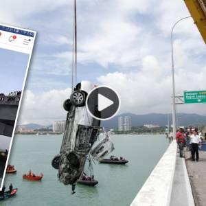 """【槟大桥轿车坠海】下集:网民的留言""""匪夷所思""""!现场有直播的必要?"""