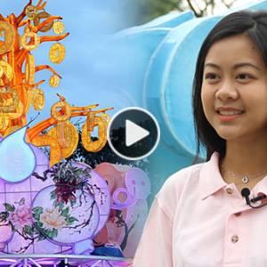 全国最大手绘猪年灯饰  幕后推手是22岁气质美女!