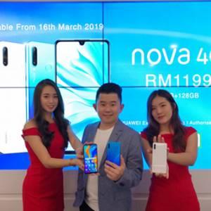 全新Huawei Nova 4e售价RM1199,3月16日开卖!