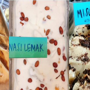 猪肠粉冰淇淋吃过吗?还有kuih bangkit和椰浆饭口味!