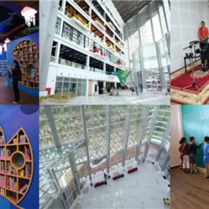 """这座""""高颜值""""的图书馆竟在我国! 宽敞明亮还设有多项设施"""