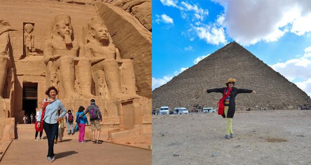窥探埃及法老王神秘面纱:吉萨金字塔—> 尼罗河船游—> 阿斯旺水坝—>帝王谷