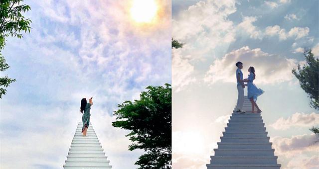 """【旅游情报】从韩剧里跳出来的梦幻场景—— """"天国的阶梯 """"!"""