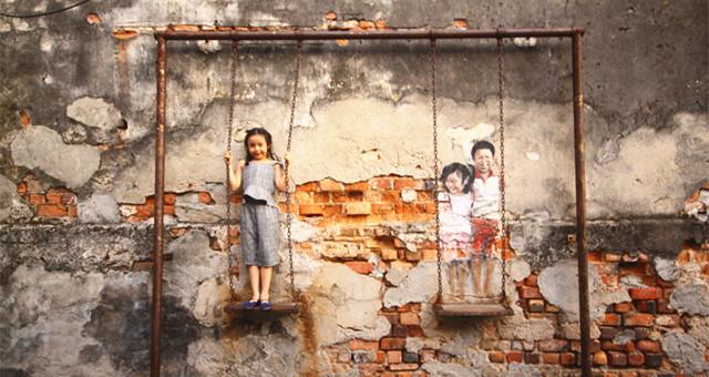 【游走槟城】墙上风景 VS 城市胸怀   徒留壁画,只会让人惆怅……