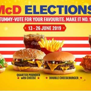 你投票了吗?赶快去MCD买份套餐,特别优惠等着你!
