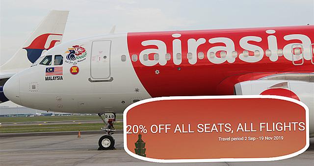 【旅游情报】欢庆国庆日及马来西亚日,亚航推出所有航班机位20%的促销!