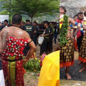 邦咯岛独特的印度游神庆典