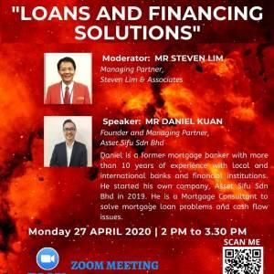 视频直播:贷款和融资解决方案 4月27日 2pm