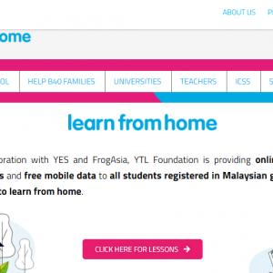 YTL 基金会提供免费上网数据以及手机给学生