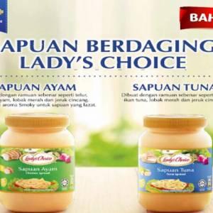 Lady's Choice 推出 首创真材实料的鸡肉和金枪鱼抹酱  含丰富营养成分,减轻妈妈们备餐的压力