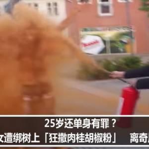 25岁还单身有罪?丹麦女遭绑树上「狂撒肉桂胡椒粉」 离奇原因曝