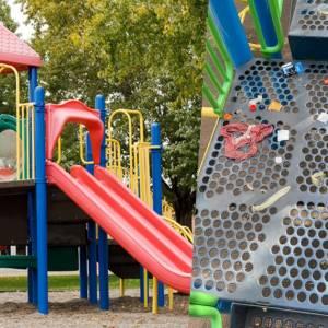 """公园遭大人当激战地点 滑梯遍地是""""子孙""""内裤喷飞"""