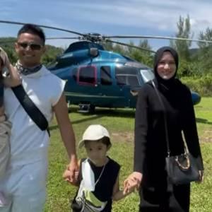 大马艺人带孩子海岛旅行!1原因要租直升机飞行!