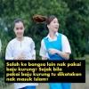 """""""Baju Kurung Ni Tradisi Melayu. Tak Payah Kaitkan Nak Masuk Islam"""" -  Gadis Cina 'Dibasuh' Berbaju Kurung"""
