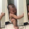 Lucu! Gelagat Bayi Tersepit Celah Peti Ais Buat Netizen Terhibur