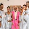 Playboy Nigeria 'Show Off' 6 Teman Wanita Yang Telah Dihamilkannya Serentak