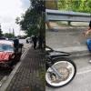 Myvi Rempuh Van Sampai Terbalik, Pemandu Cuba Larikan Diri Tapi Berjaya Ditahan