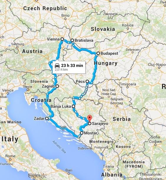 Peta perjalanan saya