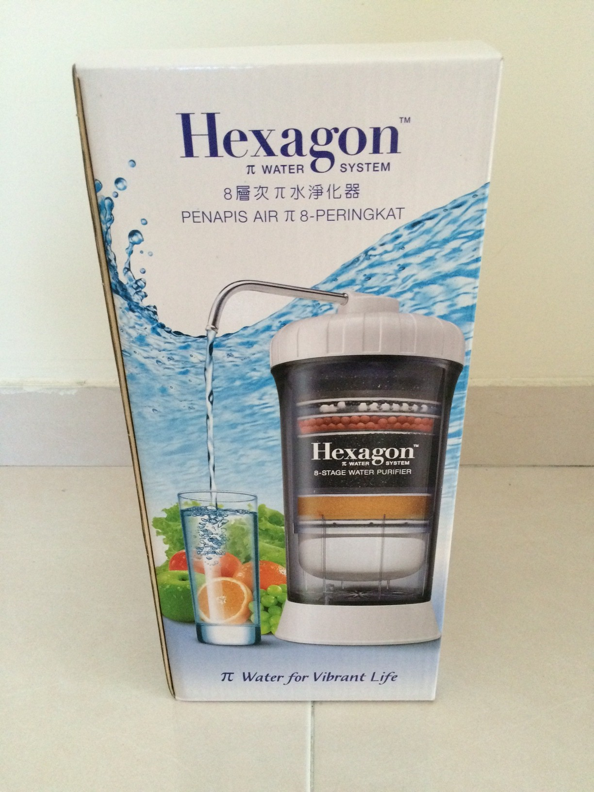 1 Cosway Hexagon 8 Stage Water Purifier Great Tasting and Nourishing EXPRESS
