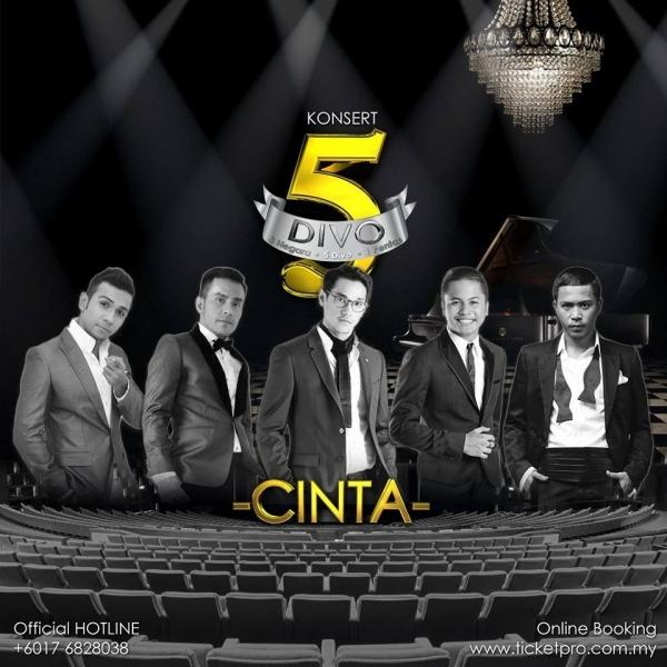 Esok!! Konsert 5 Divo Bakal Satukan Vokal Lelaki Terhebat