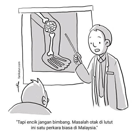 otak di lutut