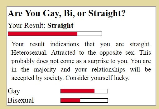 Are you gay straight or bi quiz