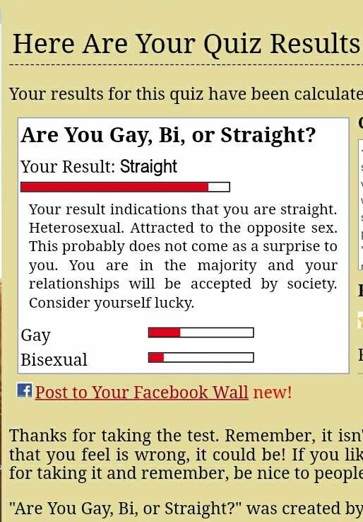 Are you bisexual or straight quiz