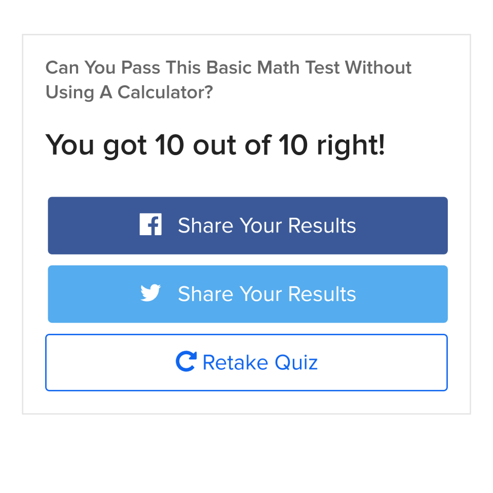 Quiz : Can You Pass This Basic Math Test Without Using A Calculator ...