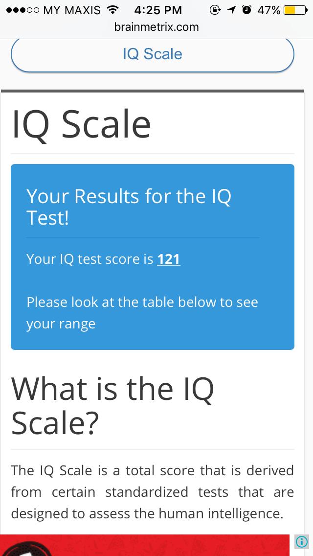 Iq Test Range