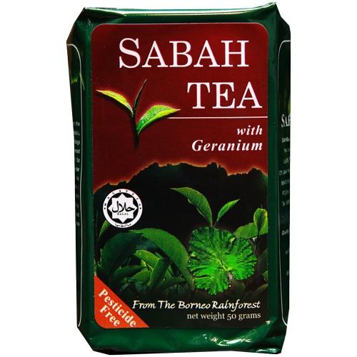 sabah tea with geranium