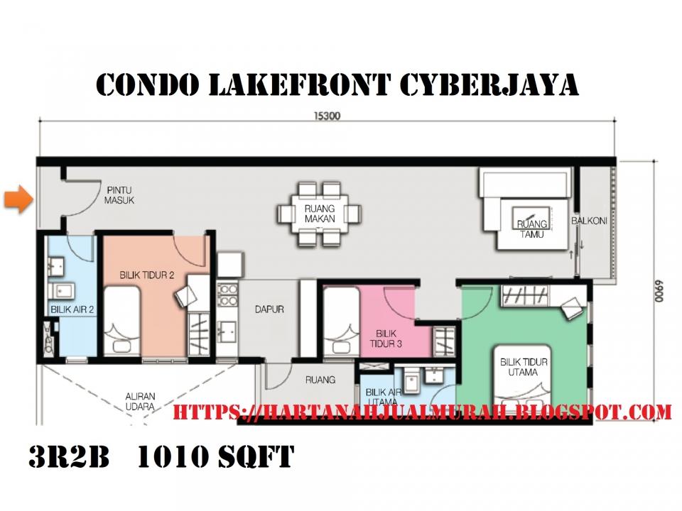Floor Plan Lakefront Homes Cyberjaya