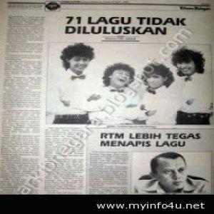 Lagu-lagu yang diharamkan oleh RTM (1989)