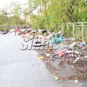Sampah Di Bahu Jalan Besar