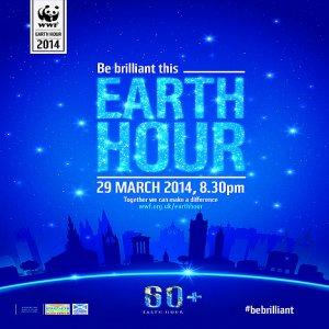 Earth Hour 2014 - 29 Mac, 8:30 Malam