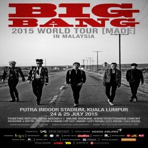 Big Bang Concert 2 Hari Di Malaysia Untuk Pertama Kalinya