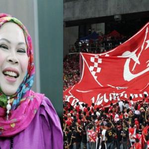 Jersi Pink & Laluan Khas Penyokong Wanita Untuk Red Warrior