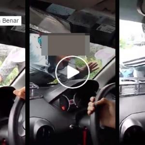 [Video} Suami Gila Talak, Sanggup Panjat Kereta Siap Berhelmet