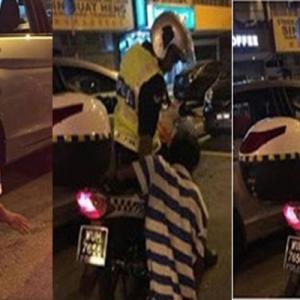 Tumpangkan Lelaki OKU, Polis ini Dipuji Netizen