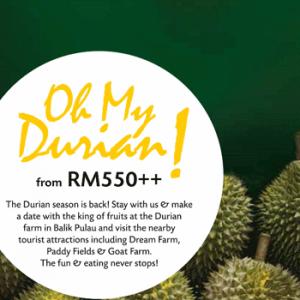 Pakej Melancong Sambil Makan Durian Yang Kenakan Denda Sekiranya Muntah?