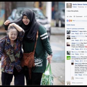 Kisah Gadis Berhijab Dengan Nenek Cina Cetus Viral, Siapakah Dia?