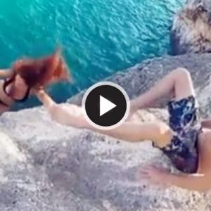 Video Viral Lelaki Biarkan Teman Wanita Jatuh Dari Atas Tebing Dikecam