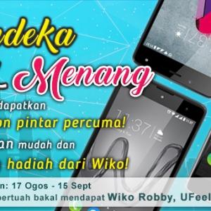 Menangi 3 Smartphone Terbaharu Wiko Sempena Merdeka! #giveaway