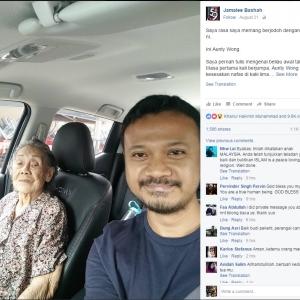 Netizen Melayu Prihatin Pada Jiran Nenek Tua Cina Wajar Dicontohi