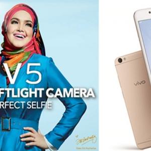 Vivo V5 Dengan Kamera Hadapan 20 MP Bagi Kualiti Swafoto Tiada Tandingan