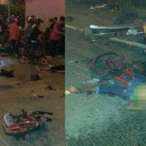 [Kemaskini] 8 Maut, 8 Cedera Dirempuh Kereta Ketika Menunggang Basikal