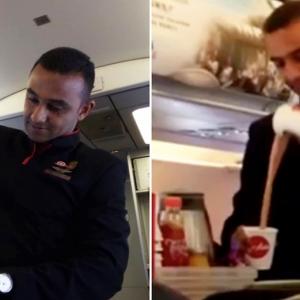 Aksi Pramugara Tarik-Menarik Teh Tarik Dalam Pesawat Buat Netizen Ternganga!