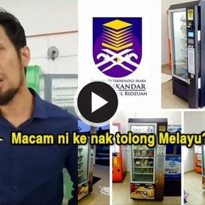 """""""Ini Ke UiTM Nak Tolong Melayu?"""" Pengusaha Vending Machine Dakwa Ditipu"""