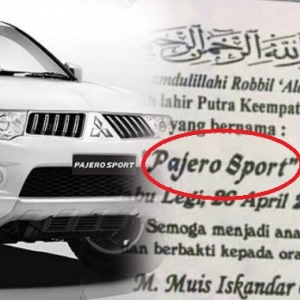 Lucu! Bayi Nama 'Pajero Sport' Tarik Perhatian Mitsubishi