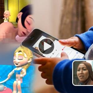 Mengejutkan! Ibu Bapa Sibuk Hal Sendiri, Tak Sedar Anak Kecil Galak Tonton Kartun Lucah Di Internet?