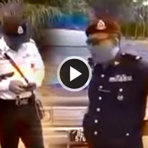 Sekumpulan Lelaki Berang Disaman Polis Trafik Dalam Ladang Sawit